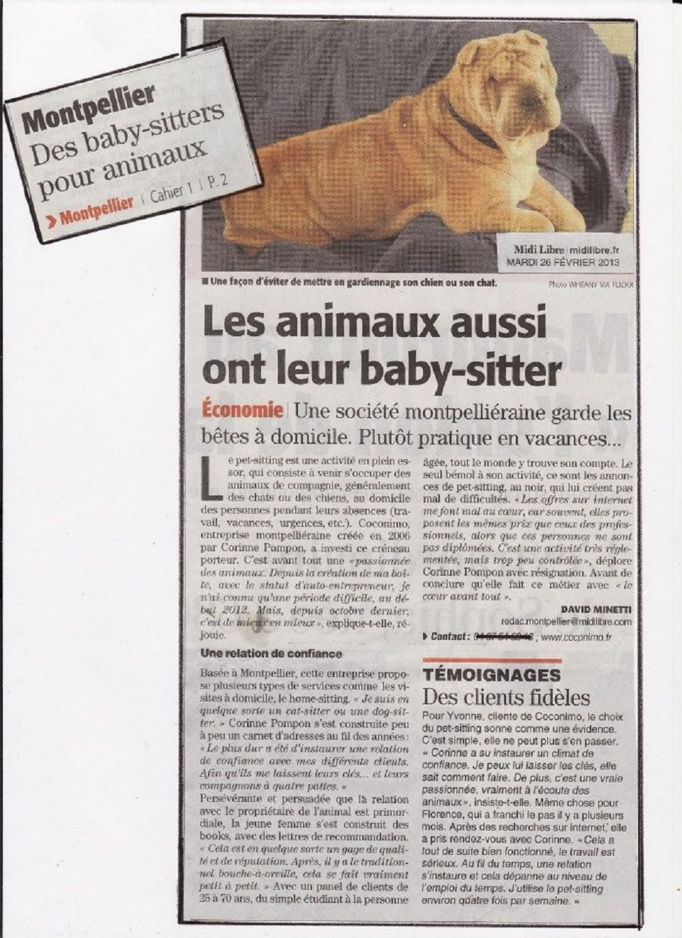 baby sitter pour animaux à montpellier